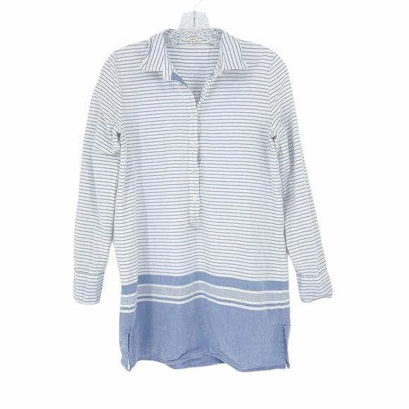 J. Crew Stripe Shirt Dress XS